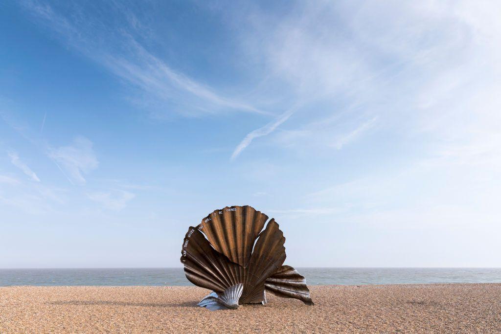 Aldeburgh Scallop Shell Sculpture, Suffolk, England