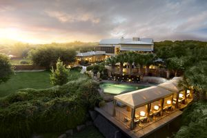 The Lake House Spa seen from above, which caters to both day trippers and overnight guests