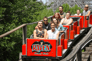 The Raven roller coaster at Holiday World