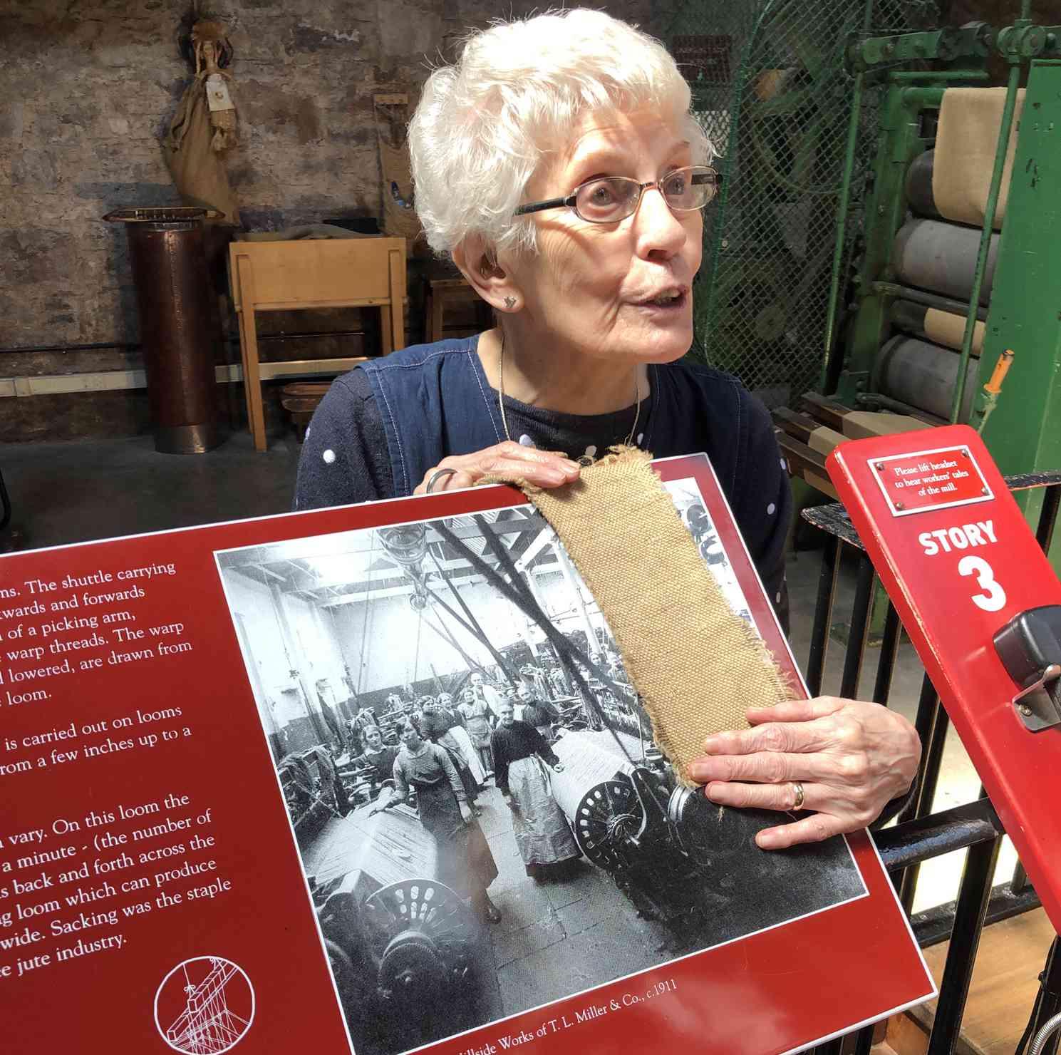 Lily Thomson, weaver at Verdant Works