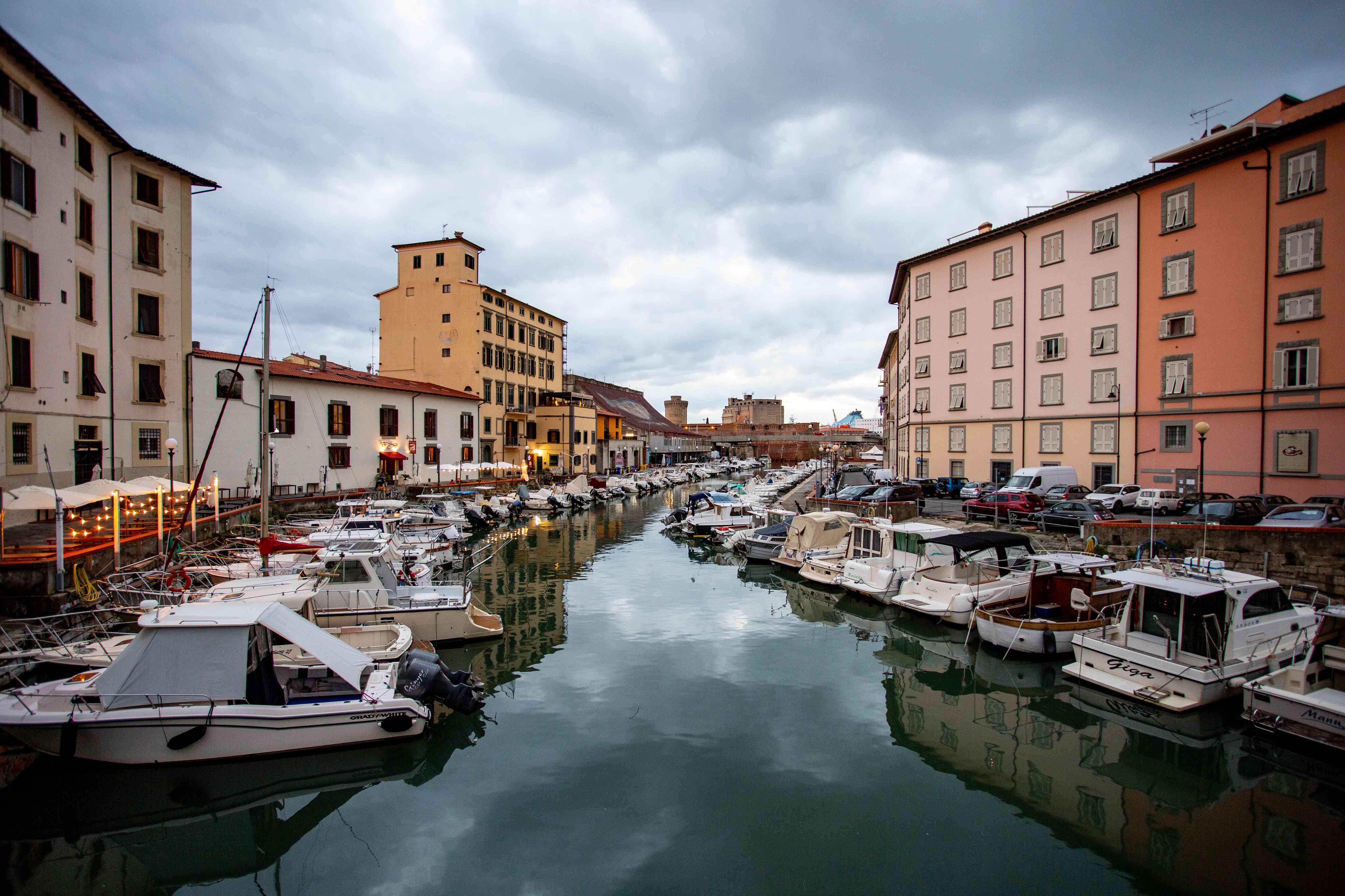 Quartiere Venezia in Livorno, Italy
