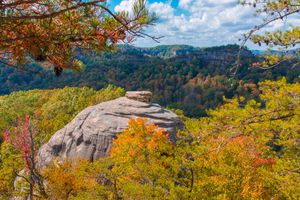 Courthouse Rock during fall at Red River Gorge, Kentucky