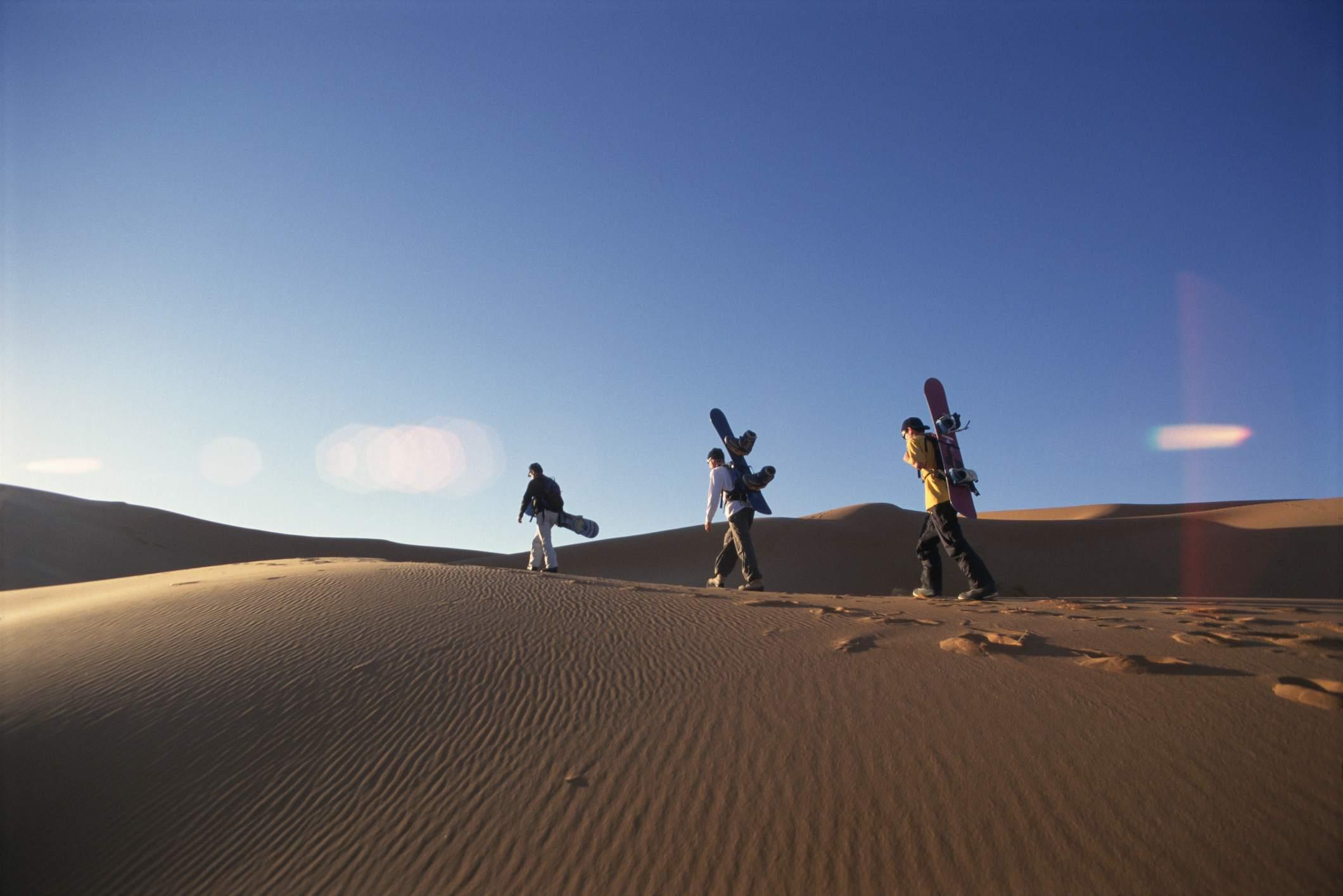 Sand-boarding in the Sahara