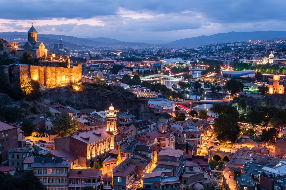 Tbilisi (Republic of Georgia) at dusk