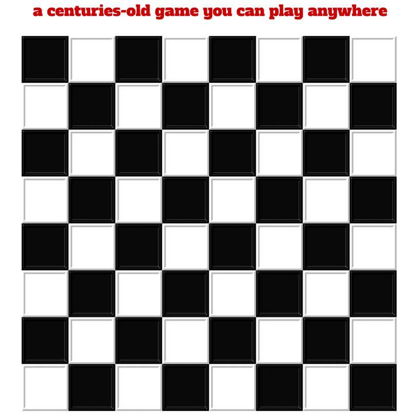 Bottlecap Checkers printable board game