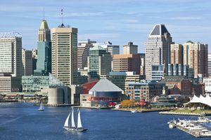Baltimore City Skyline and Inner Harbor