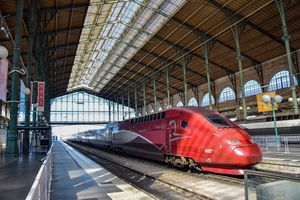 Train at Gare du Nord, Paris