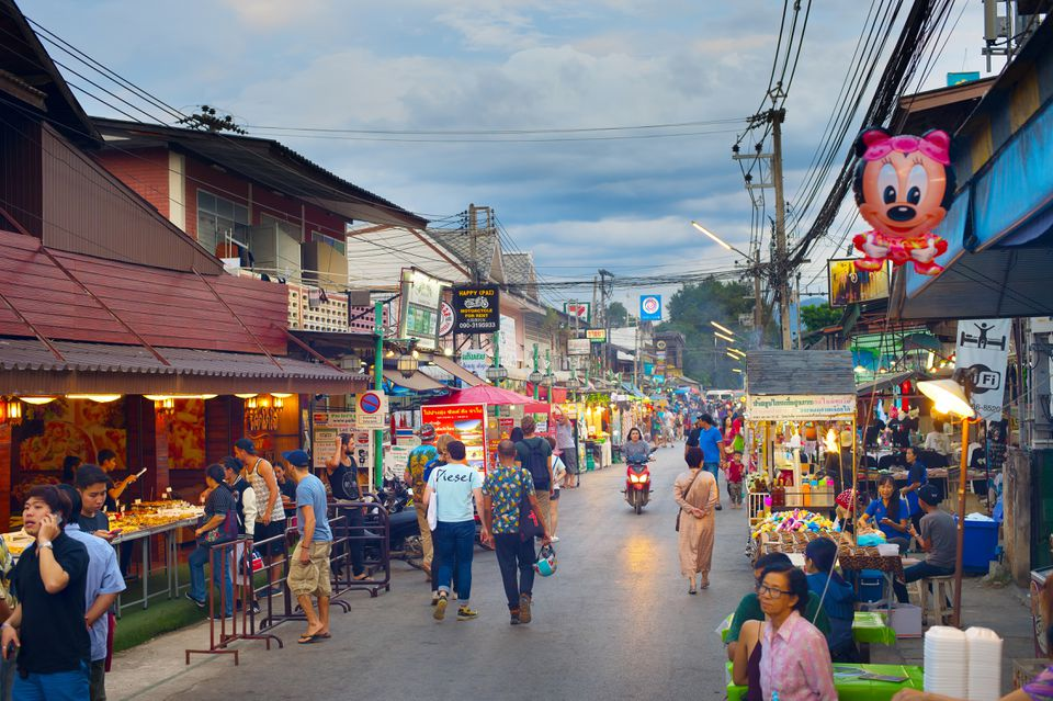 Walking Street in Pai, Thailand