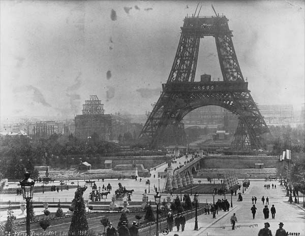 The Eiffel Tower during its construction in 1878