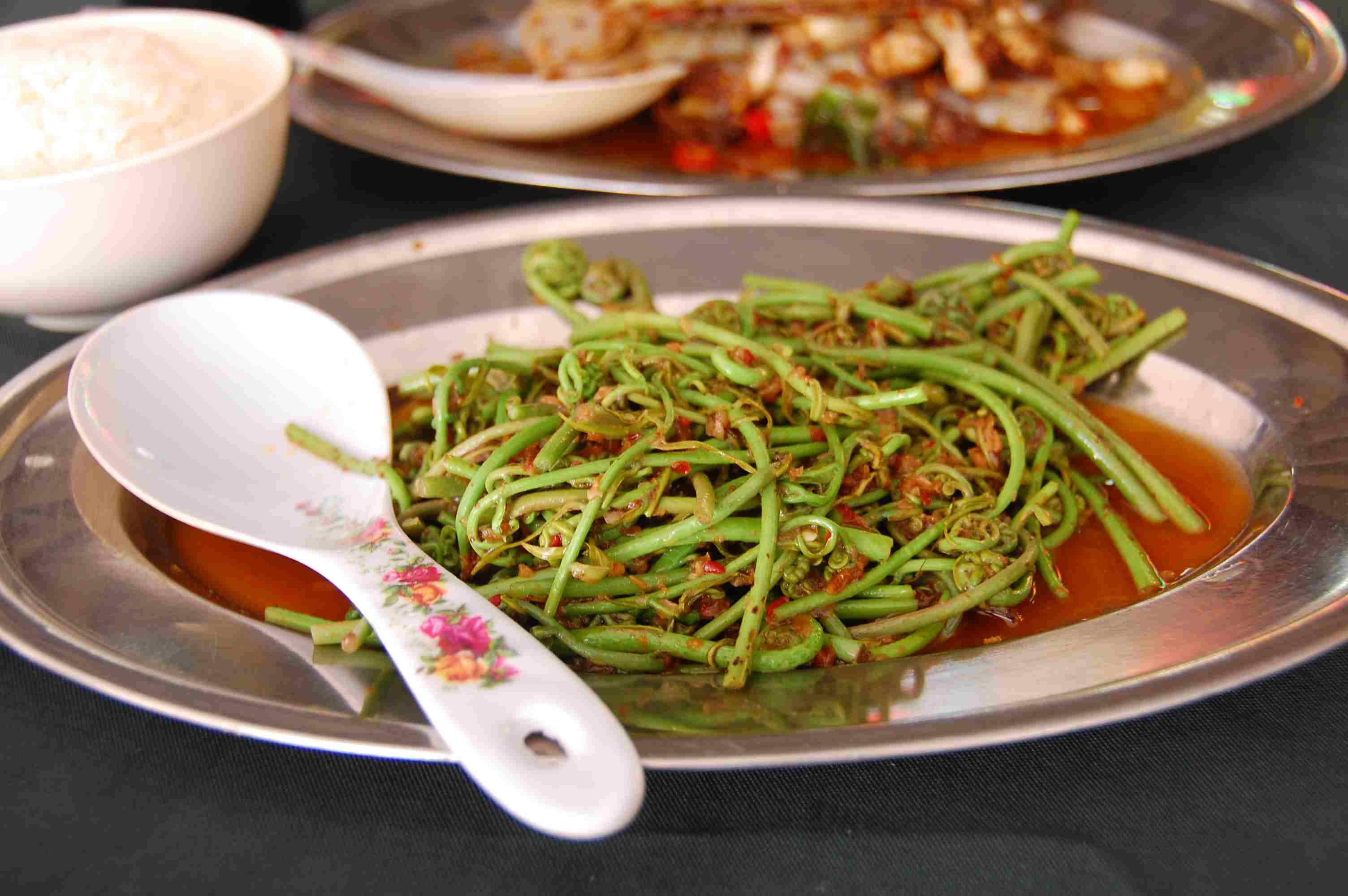 midin Sarawak food