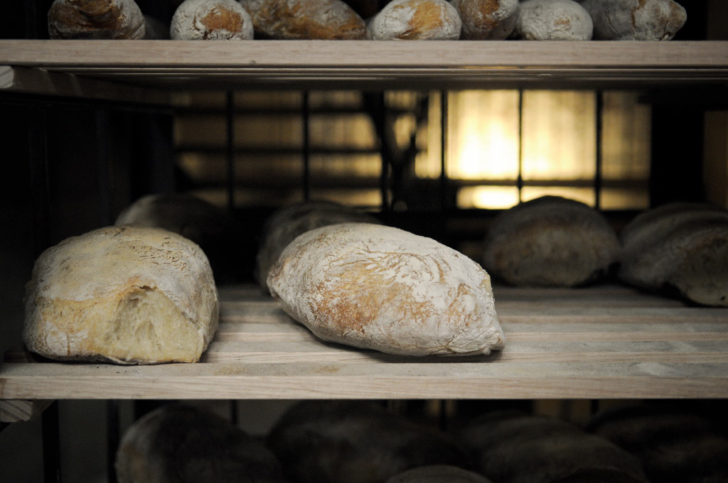 Fresh bread on the rack at Bread in Common