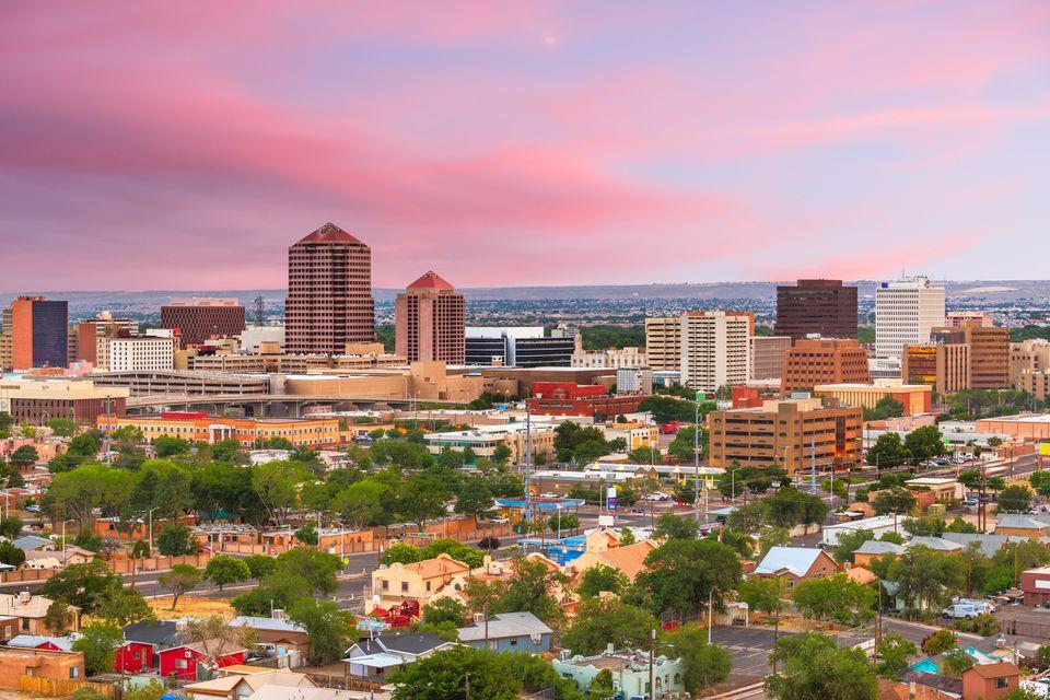 Albuquerque, Nuevo México, EE.UU. Paisaje urbano