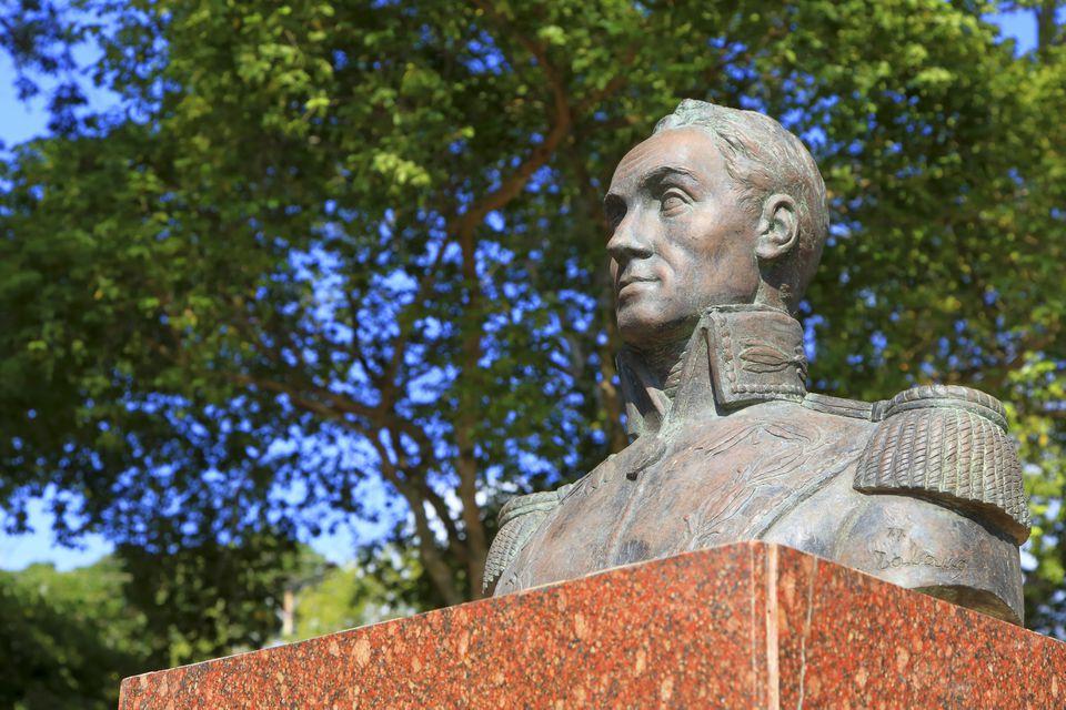 Venezuela, Margarita Island, simon bolivar statue
