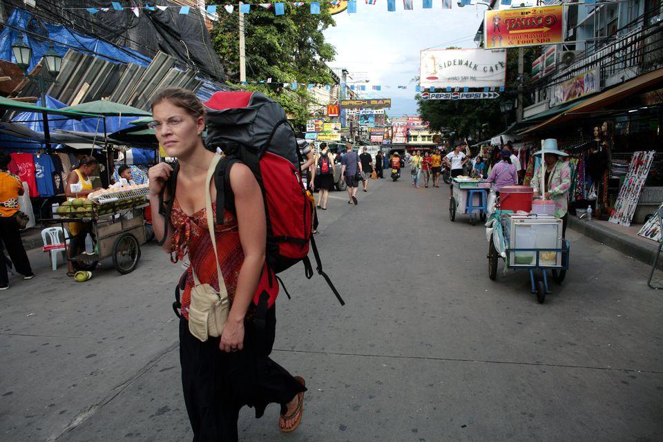 Backpacker in Asia