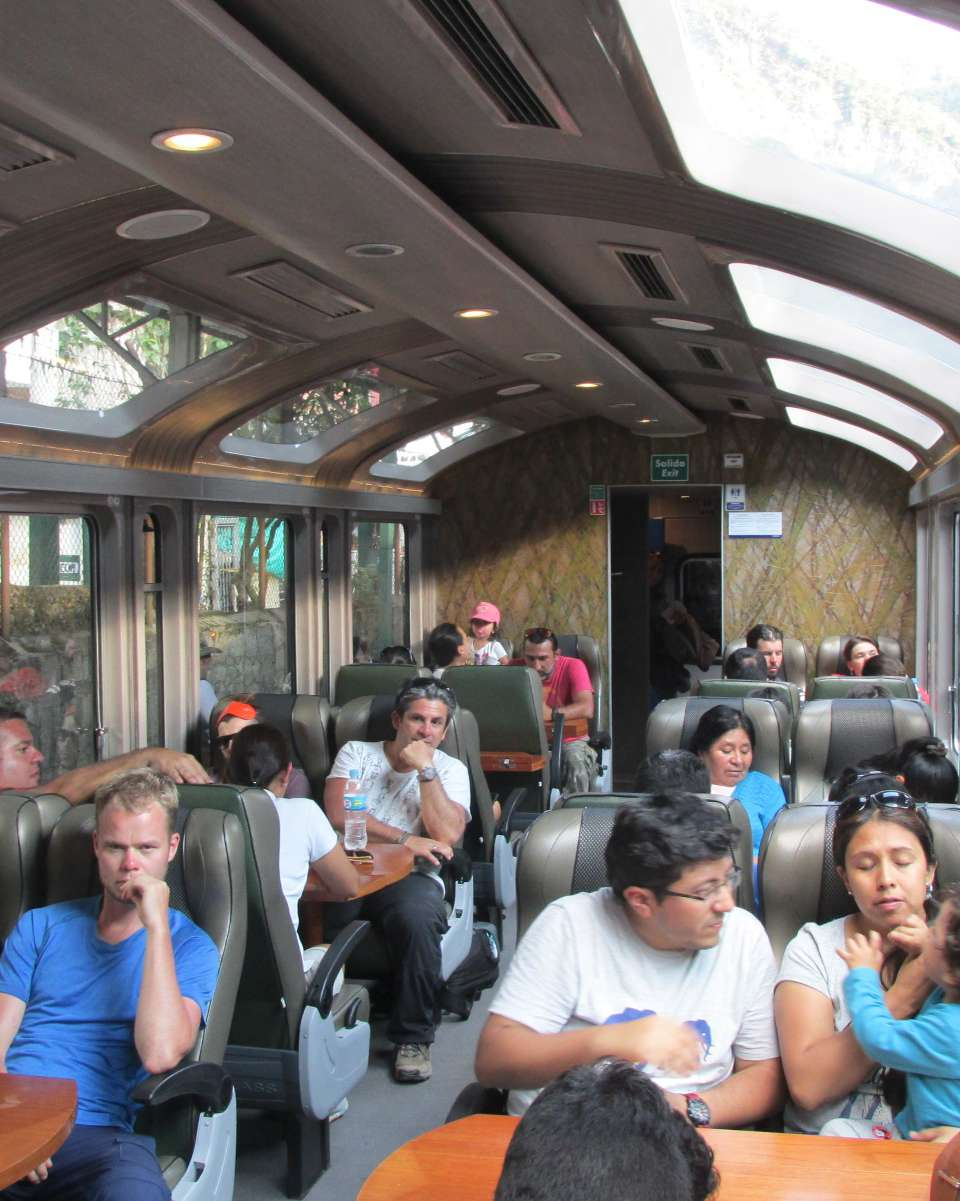 PeruRail Vistadome train to Machu Picchu Station