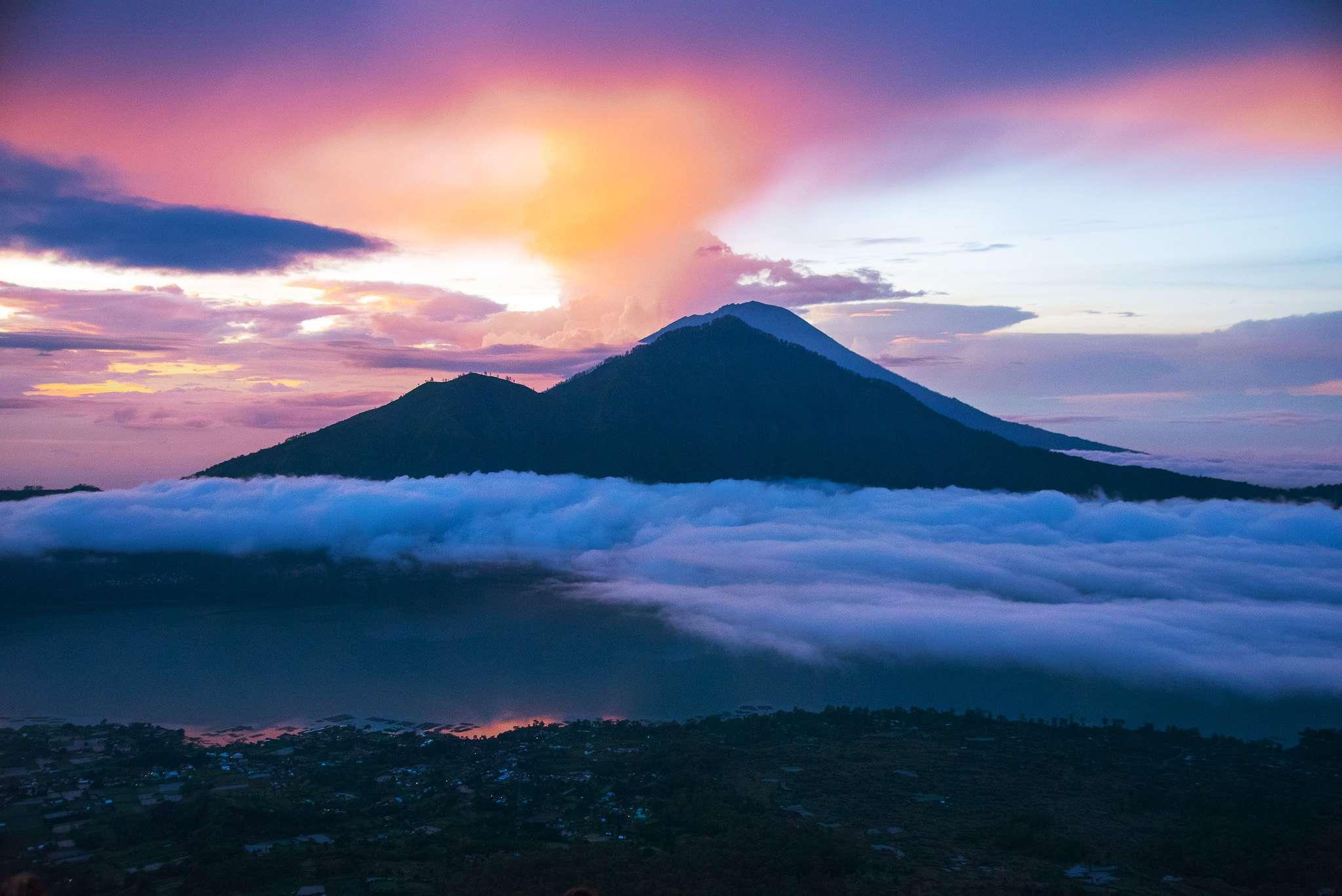 Mount Batur during sunset