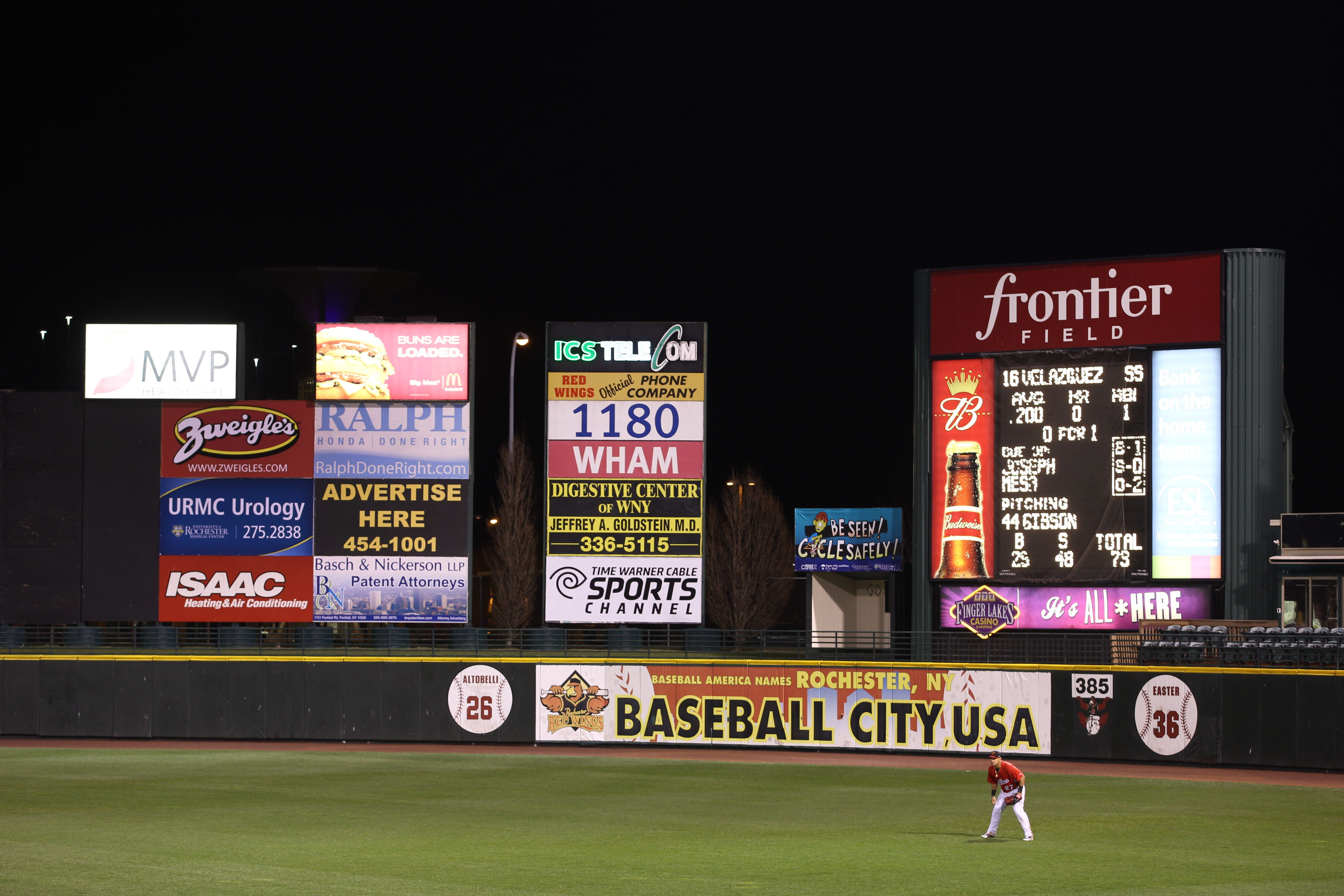 Rochester Red Wings Play at Frontier Field
