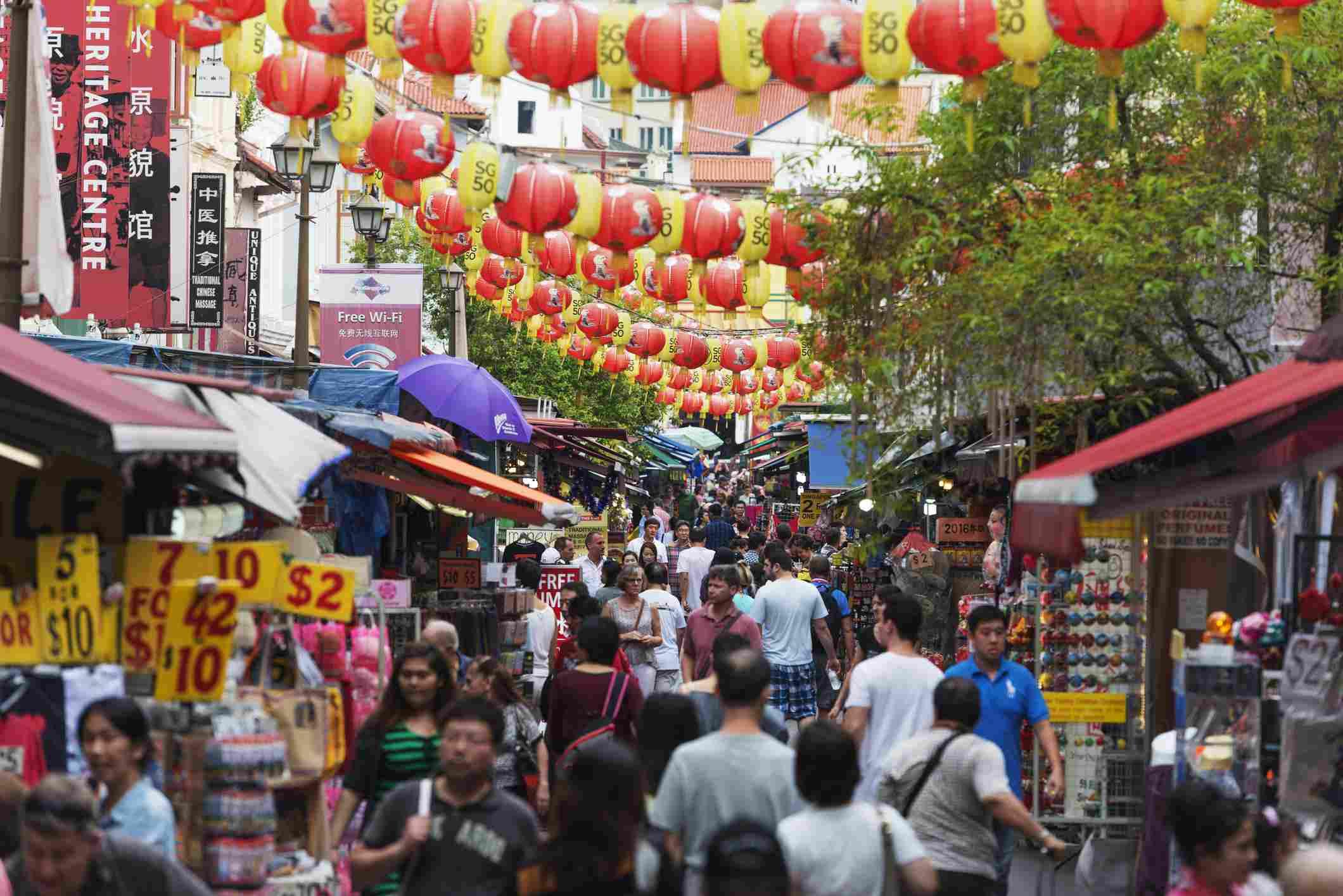 Singapore's bustling Chinatown