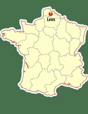 lens map, lens location map