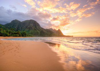 Tunnels Beach on Kauai, Hawaii