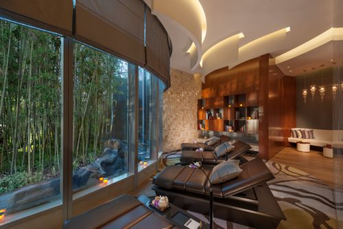 The relaxation room in the Mandarin Oriental's Spa, Shanghai
