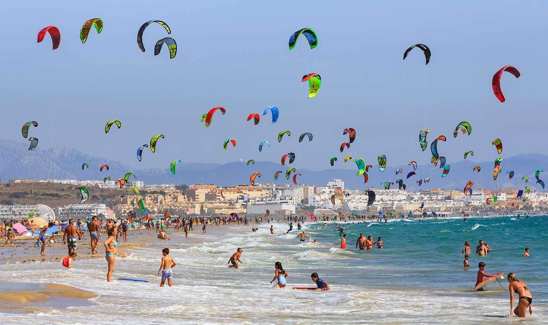 settings Kitesurfing on Tarifa beach