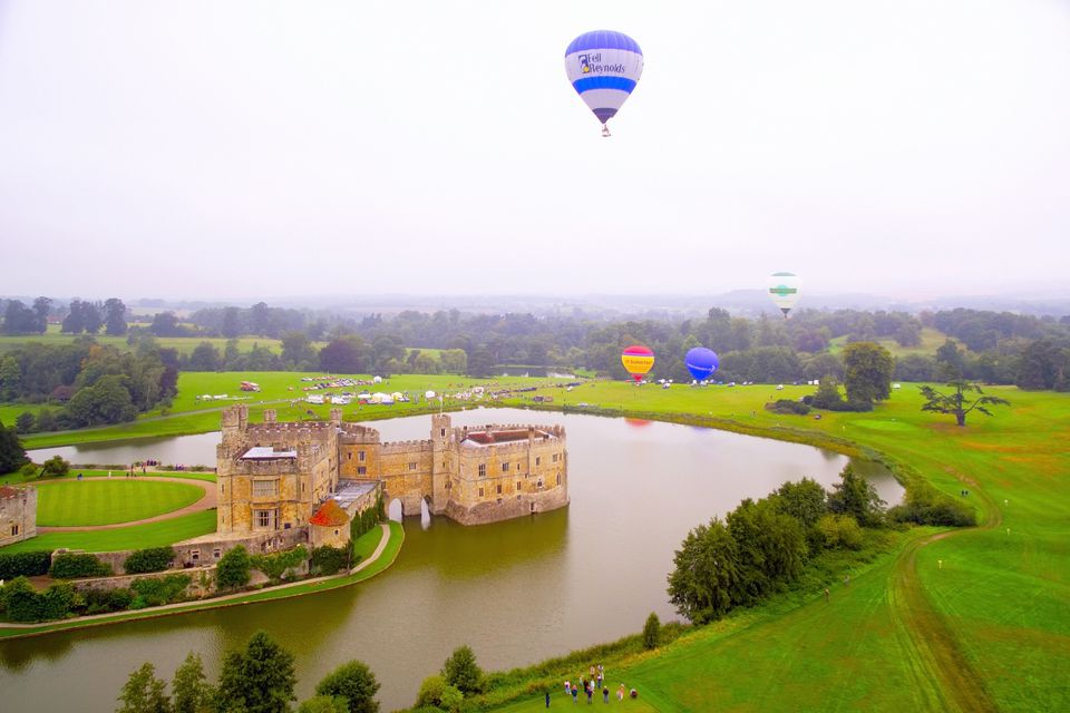 Leeds Castle During Balloon Festival