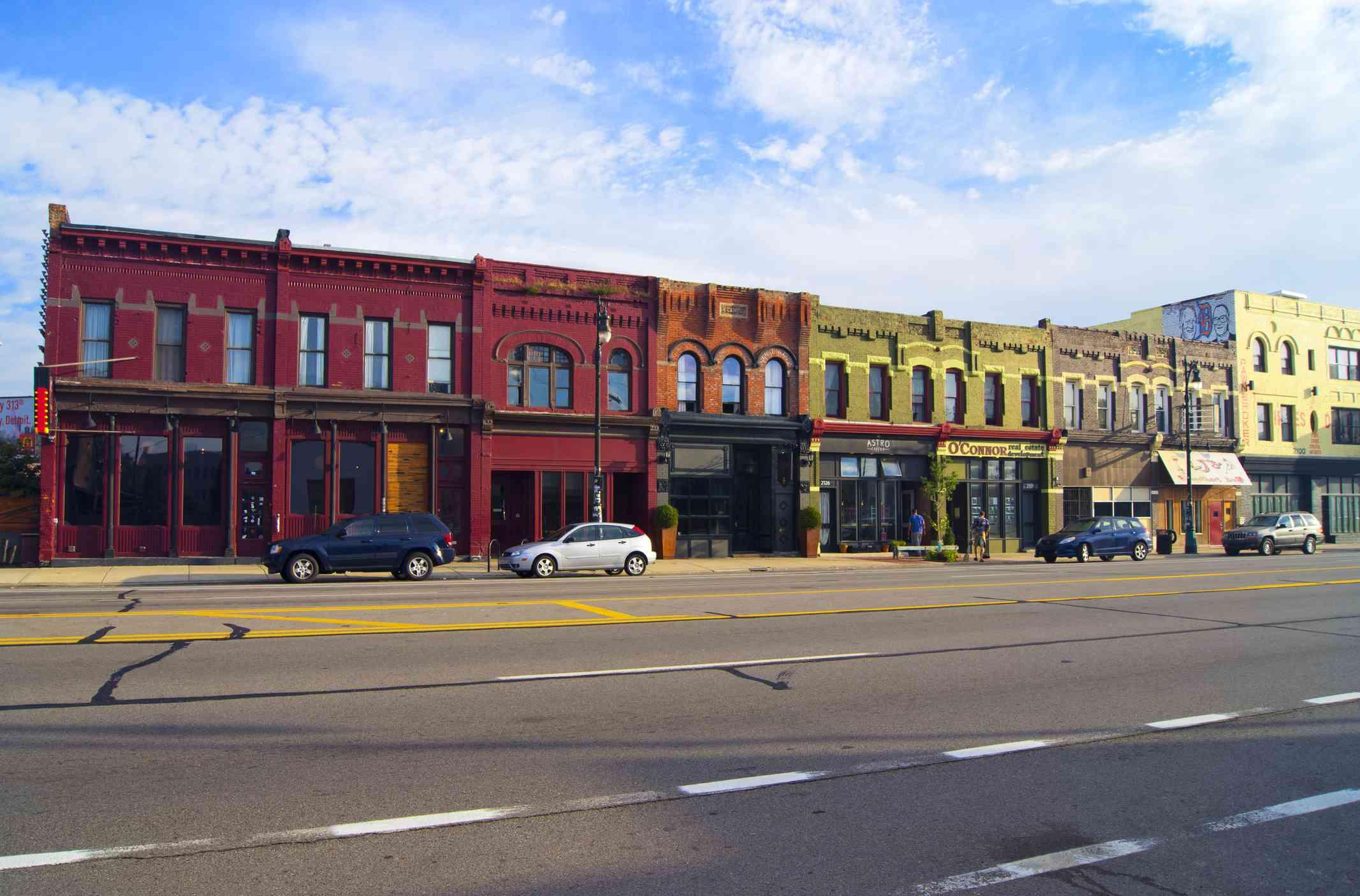 Terraza histórica en Detroit
