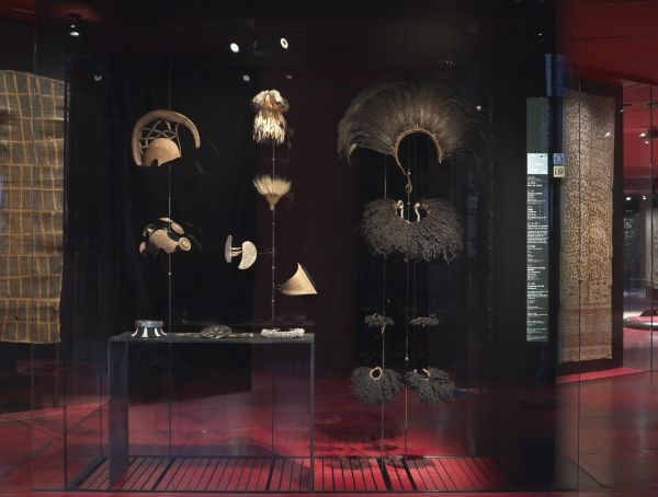 A display in the permanent collection at the Quai Branly Museum.