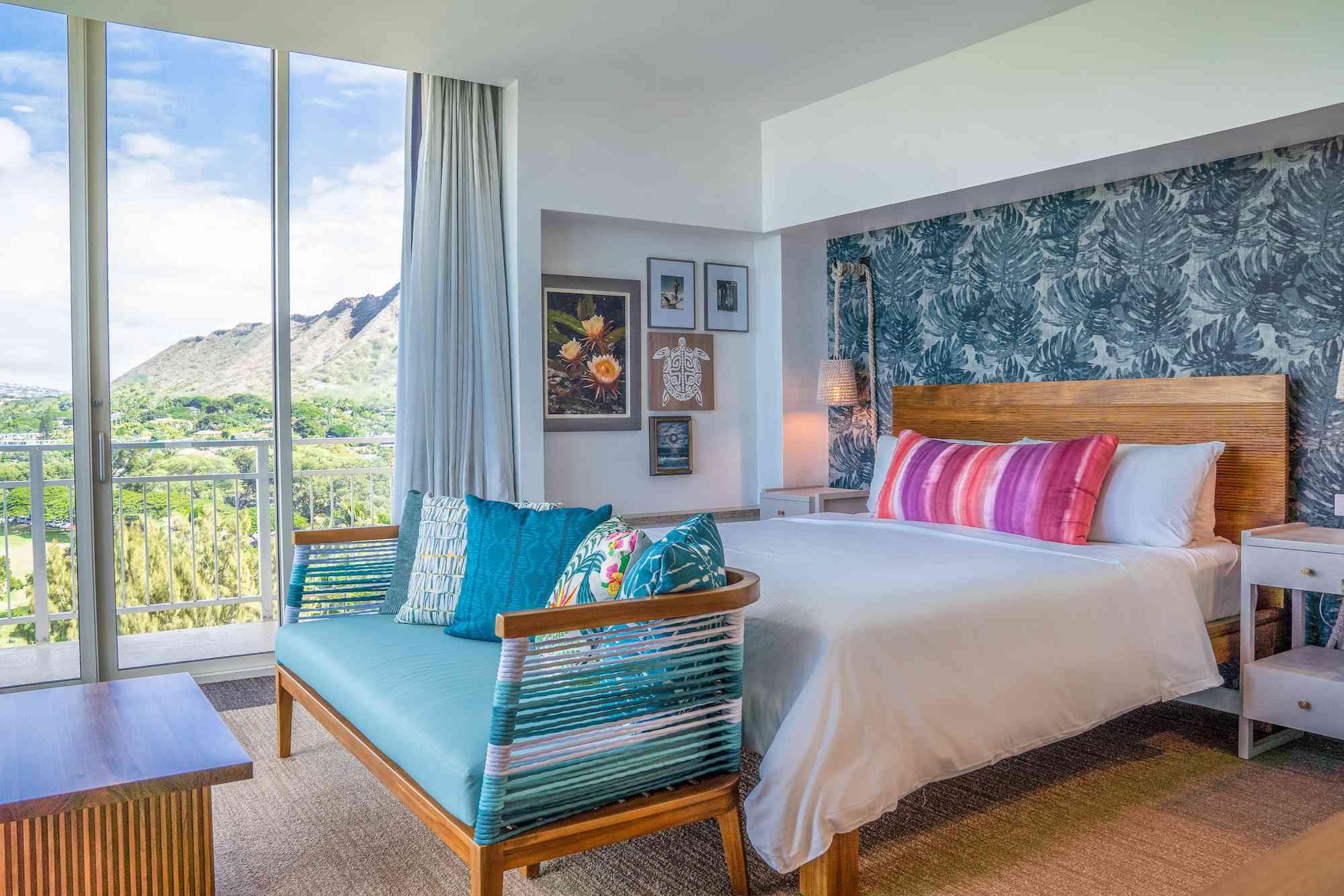Colorful room in Kaimana Beach Hotel