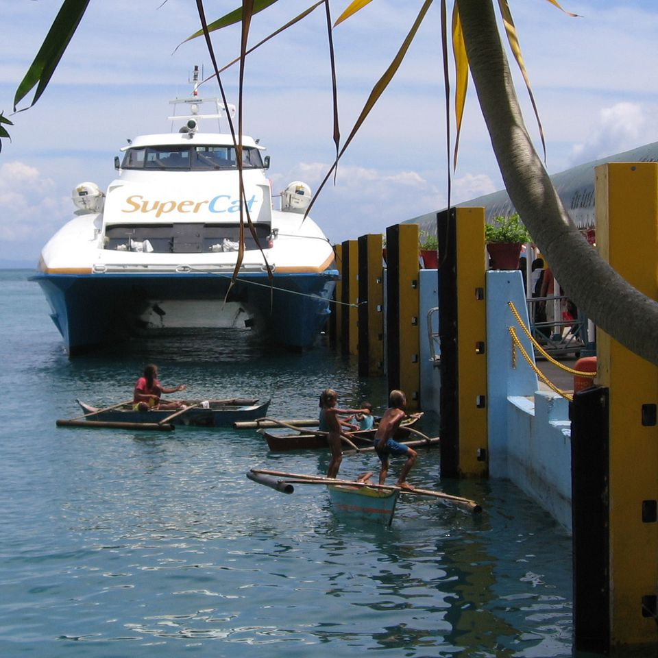 SuperCat ferry at Tagbilaran wharf, Bohol, Philippines