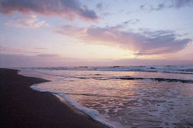 Pink Sky Reflected in the Surf