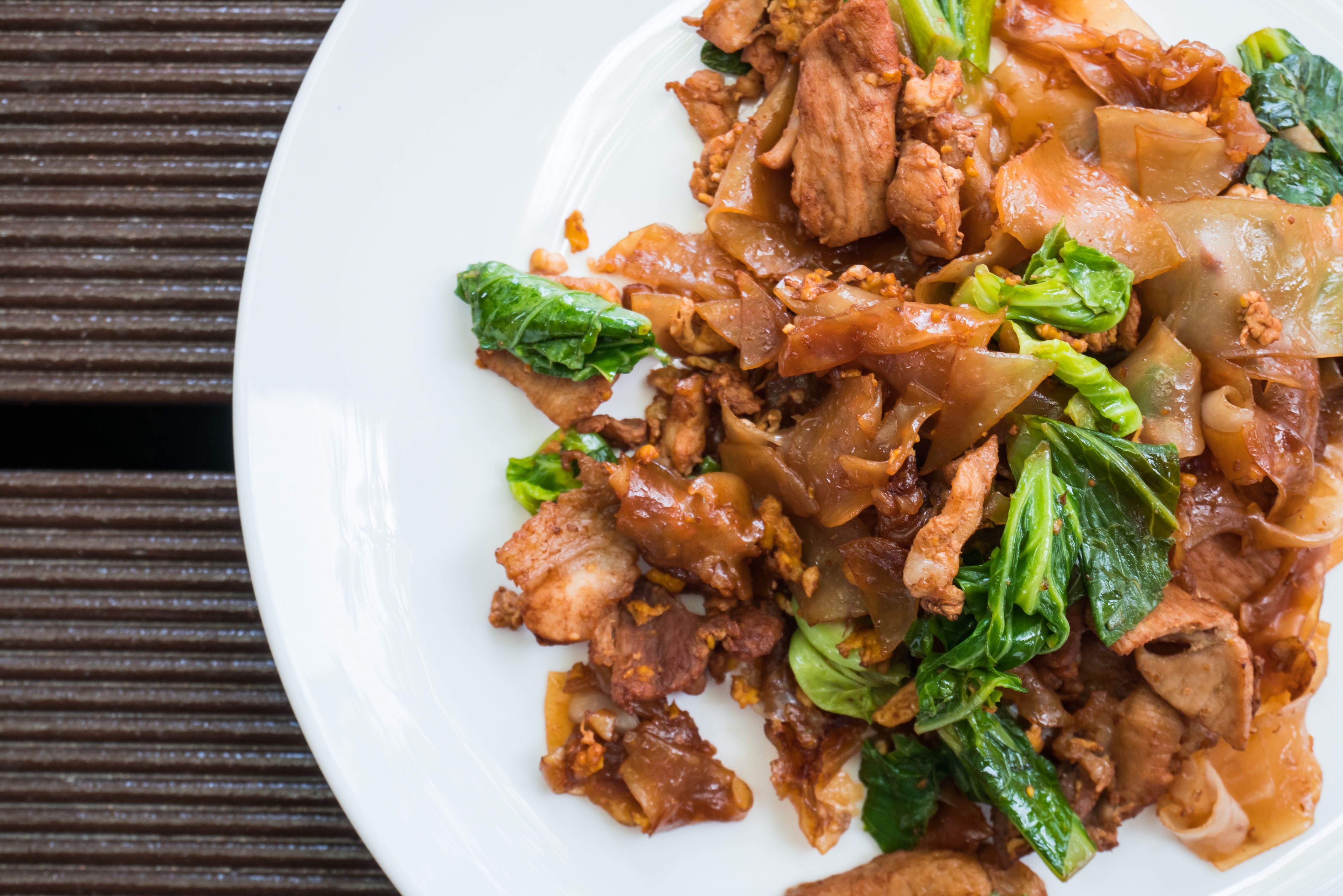 Thai food-Stir fried Noodle with sweet soy sauce