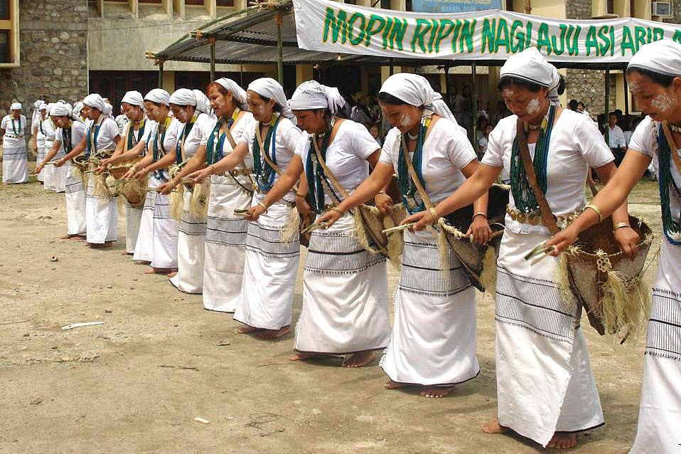 Dancers at the Mopin Festival.