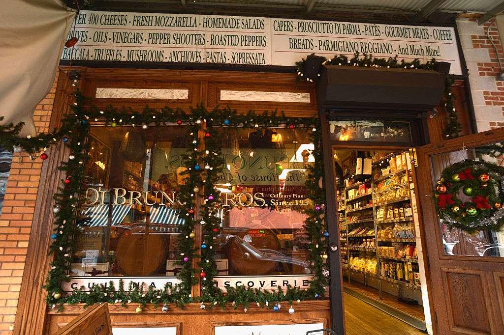 Italian market landmark cheese shop