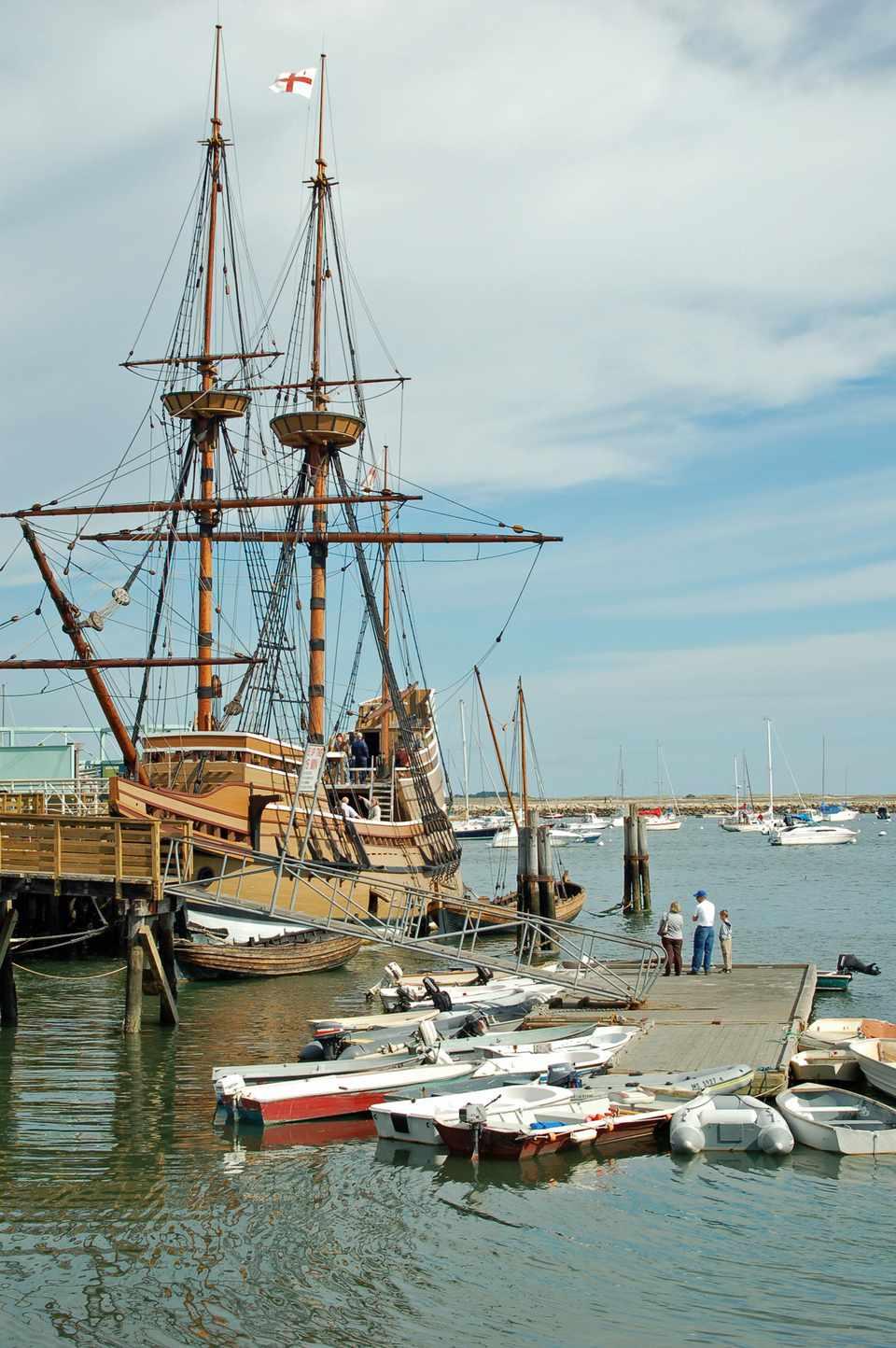 Mayflower II Famous Pilgrim Ship in Plymouth Massachusetts