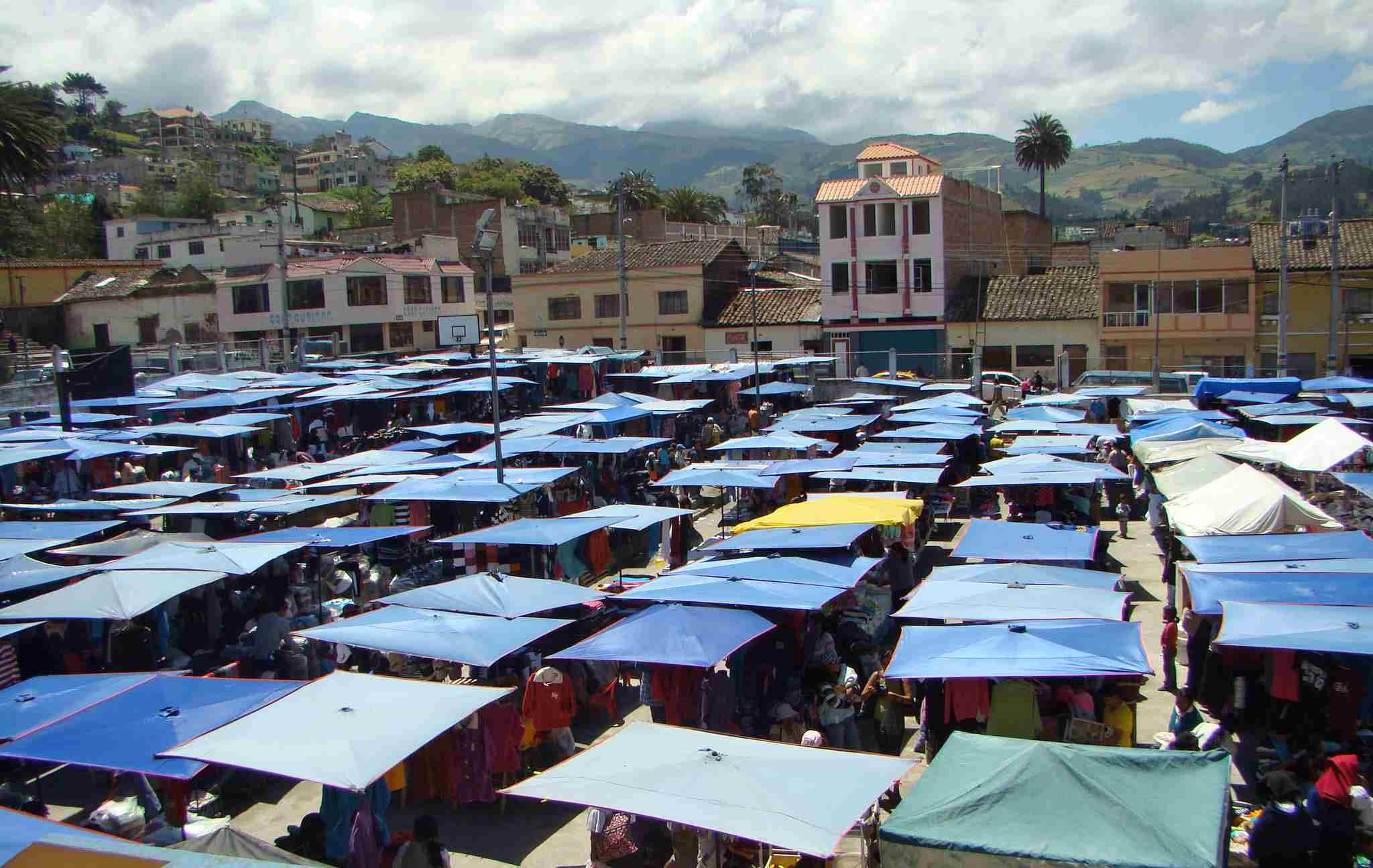 One of the world's best-known outdoor markets is in Otavalo, Ecuador.
