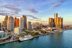 Detroit Aerial Panorama
