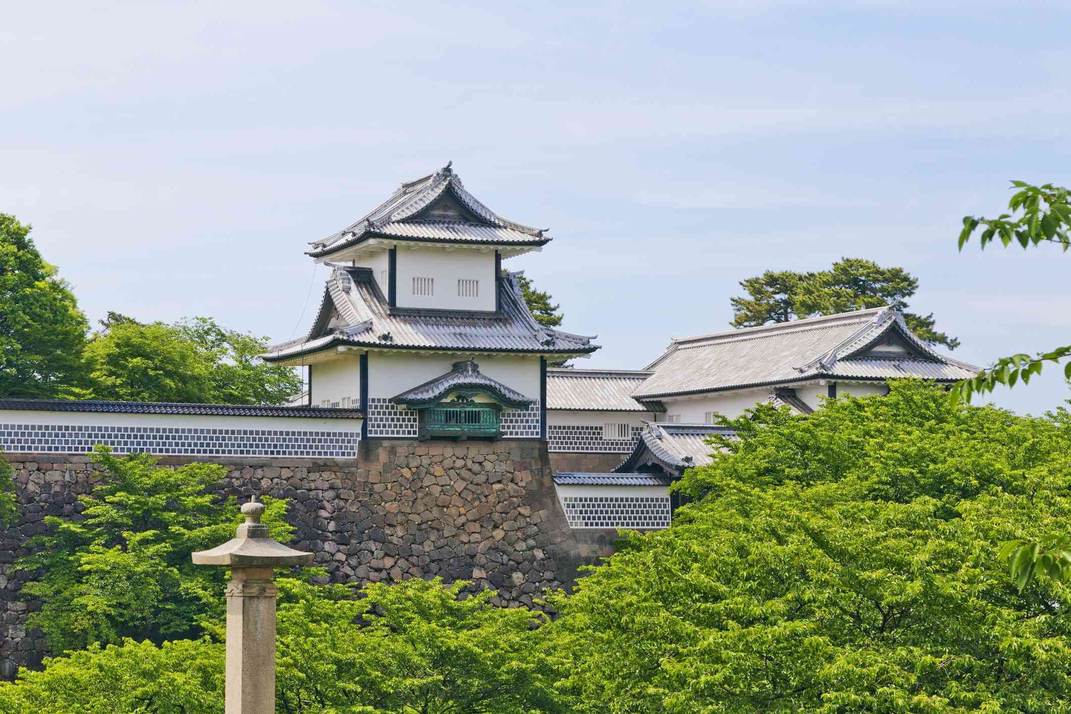 Kanazawa Castle stands in substantial park grounds in the center of Kanazawa City.