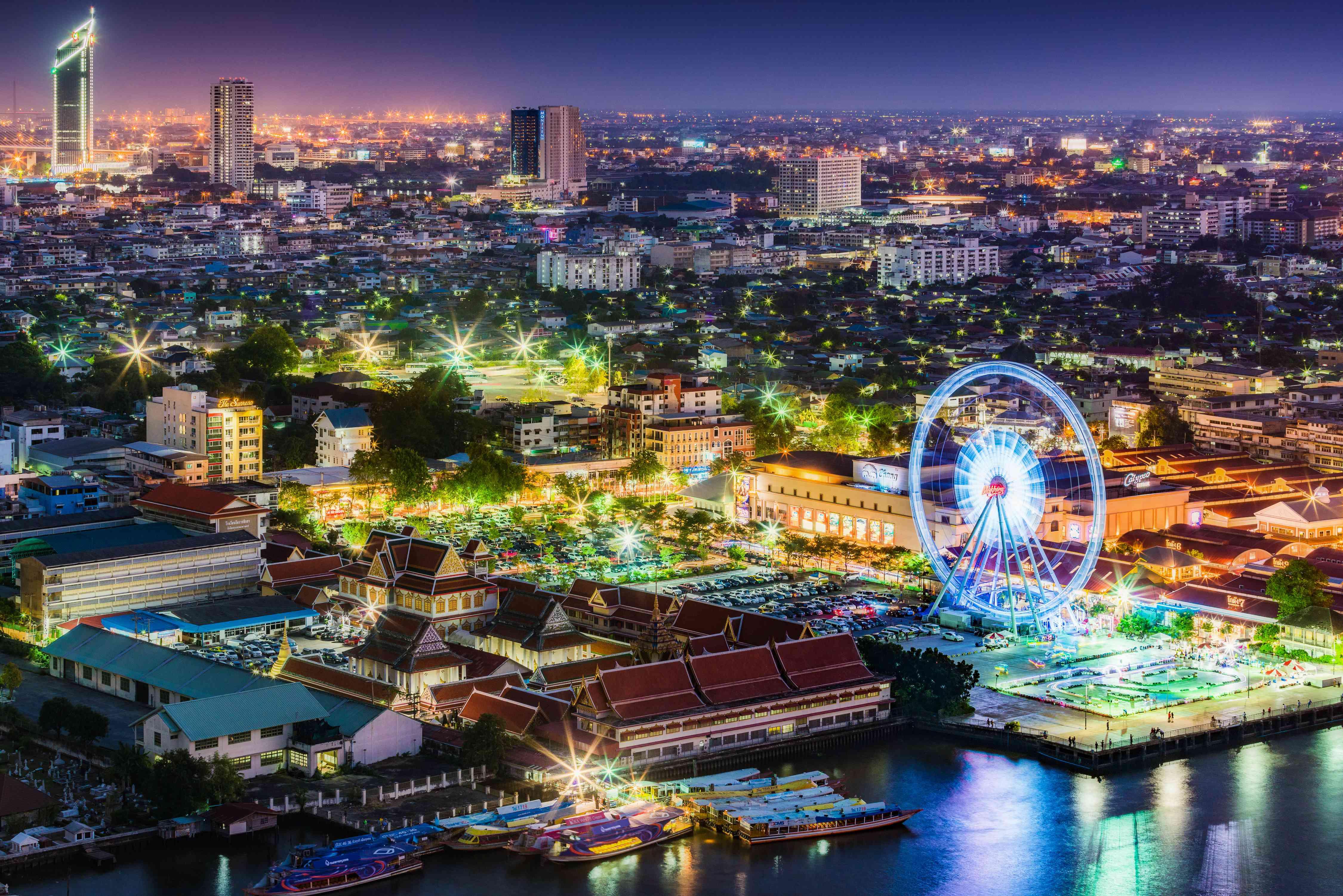 Asiatique in Bangkok at night