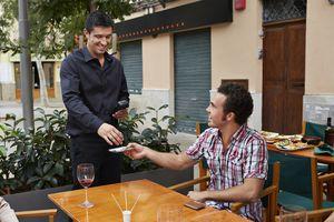 Tipping in Palma De Mallorca, Mallorca, Spain
