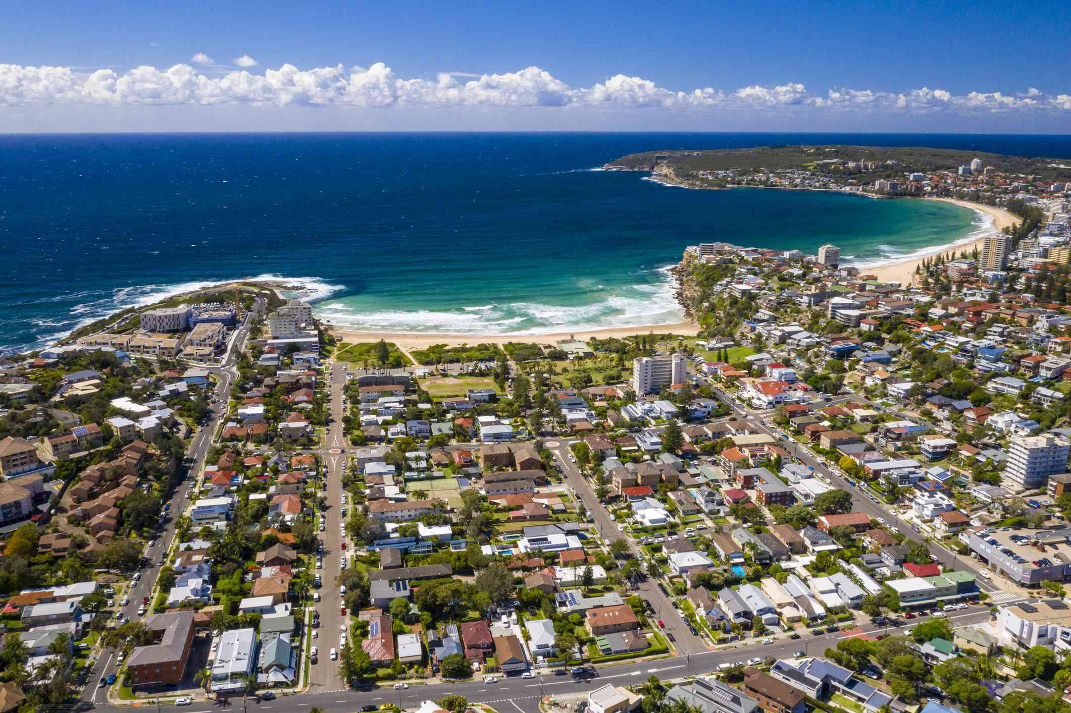 Aerial view of Freshwater and Manly