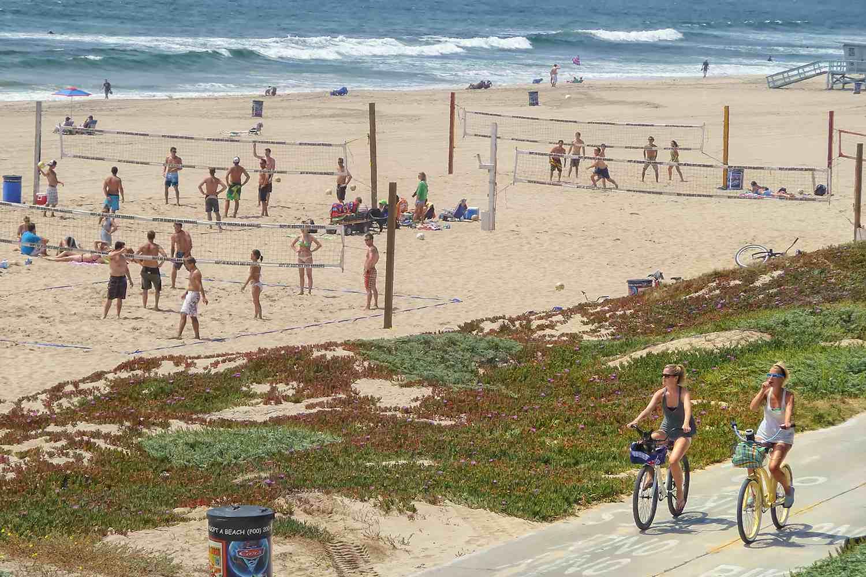 Riding Bikes at Manhattan Beach