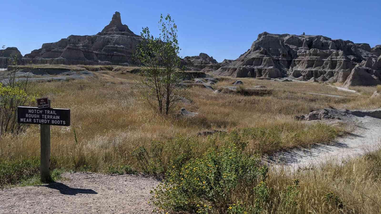 Badlands National Park Trailhead