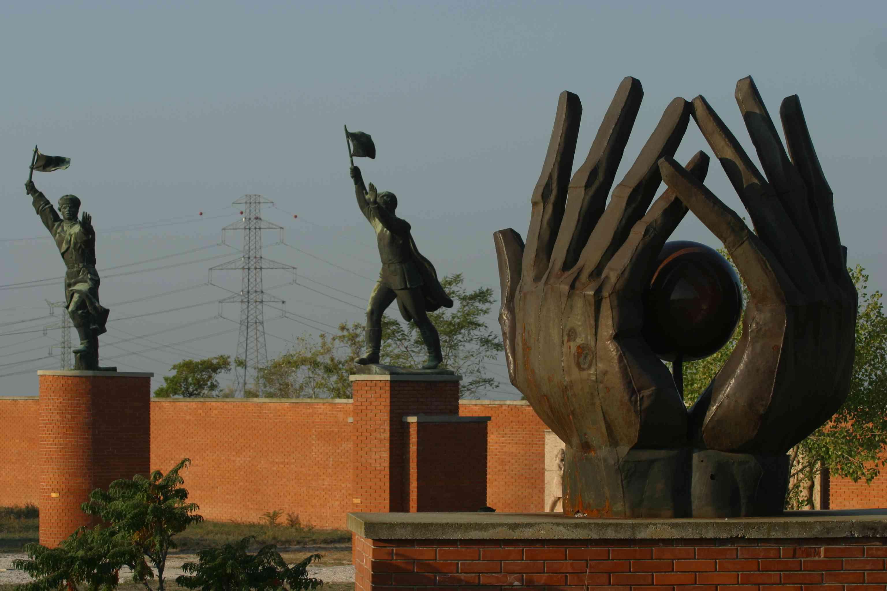 statues in Memento Park