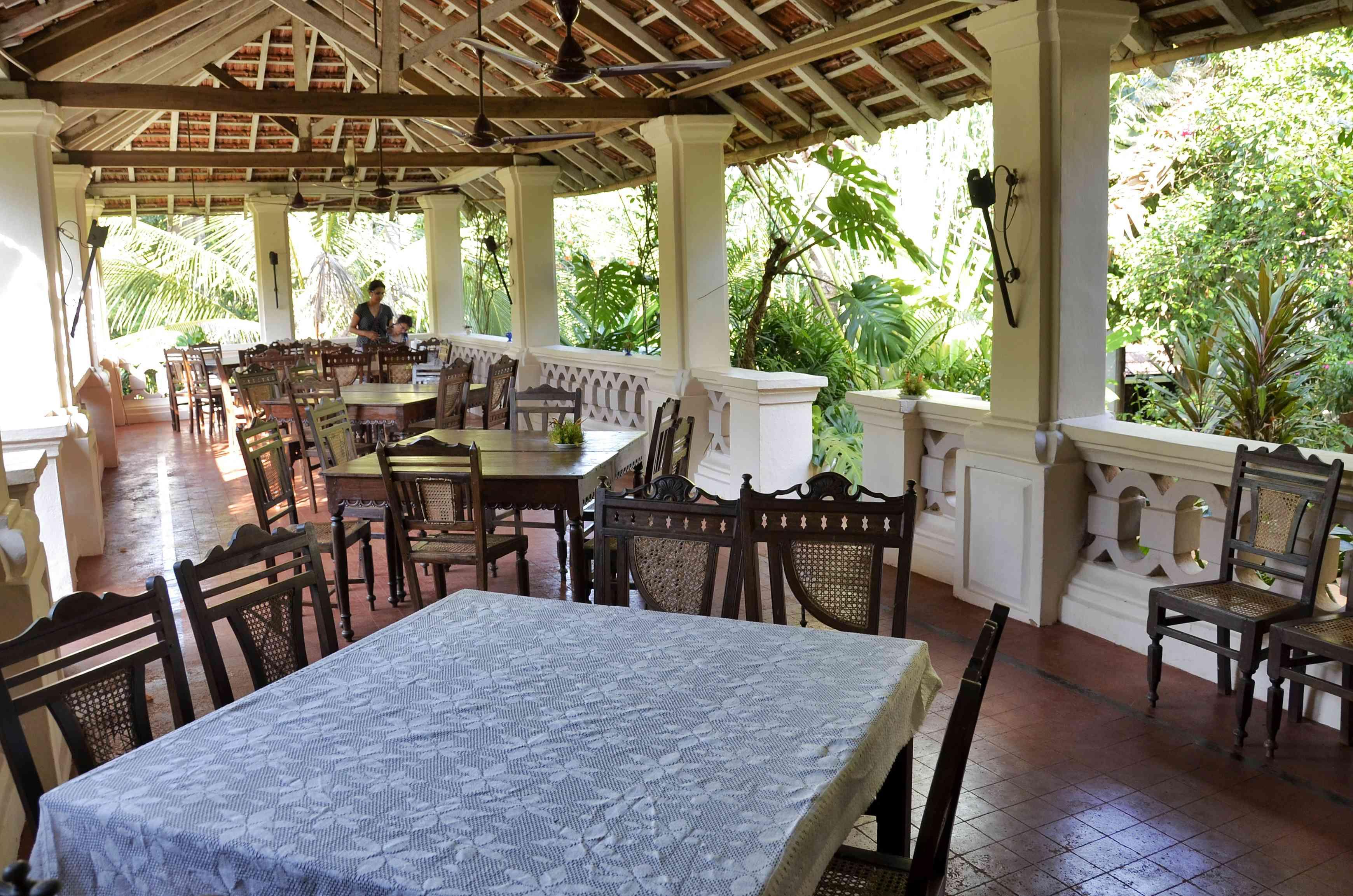 Restaurant at Palacio do Deao in Goa.