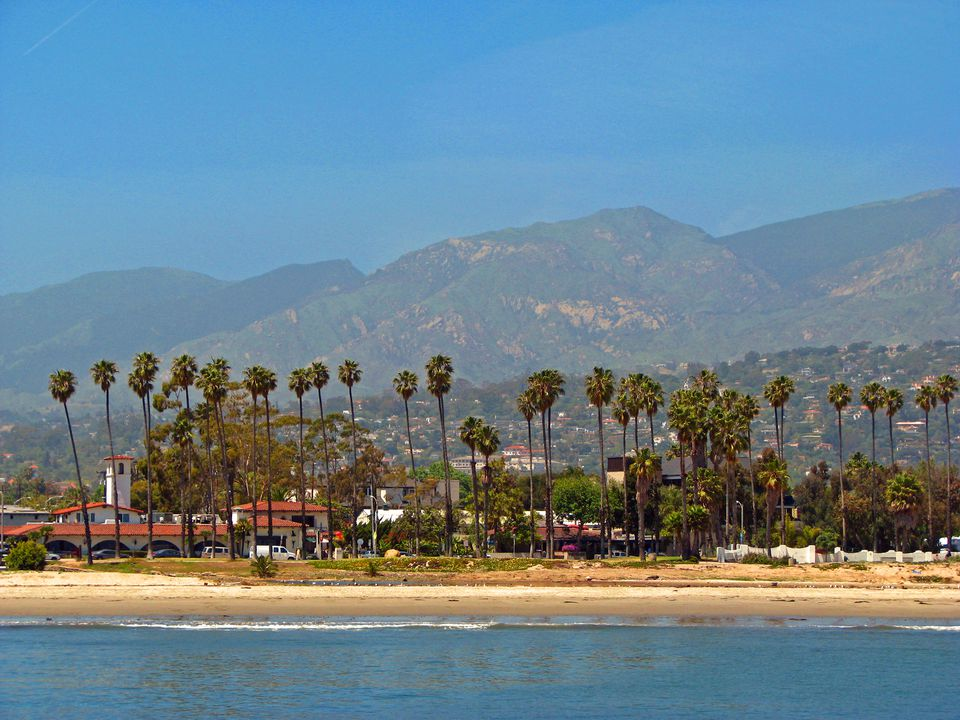 Santa Barbara, beach and mountains