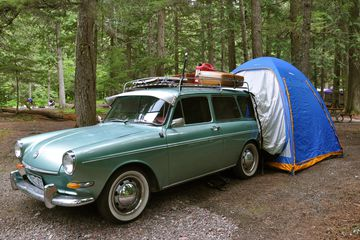 Camping at Avalanche Campground, Glacier National Park