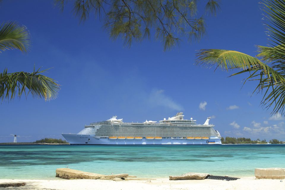 Allure of the Seas cruise ship in Jamaica