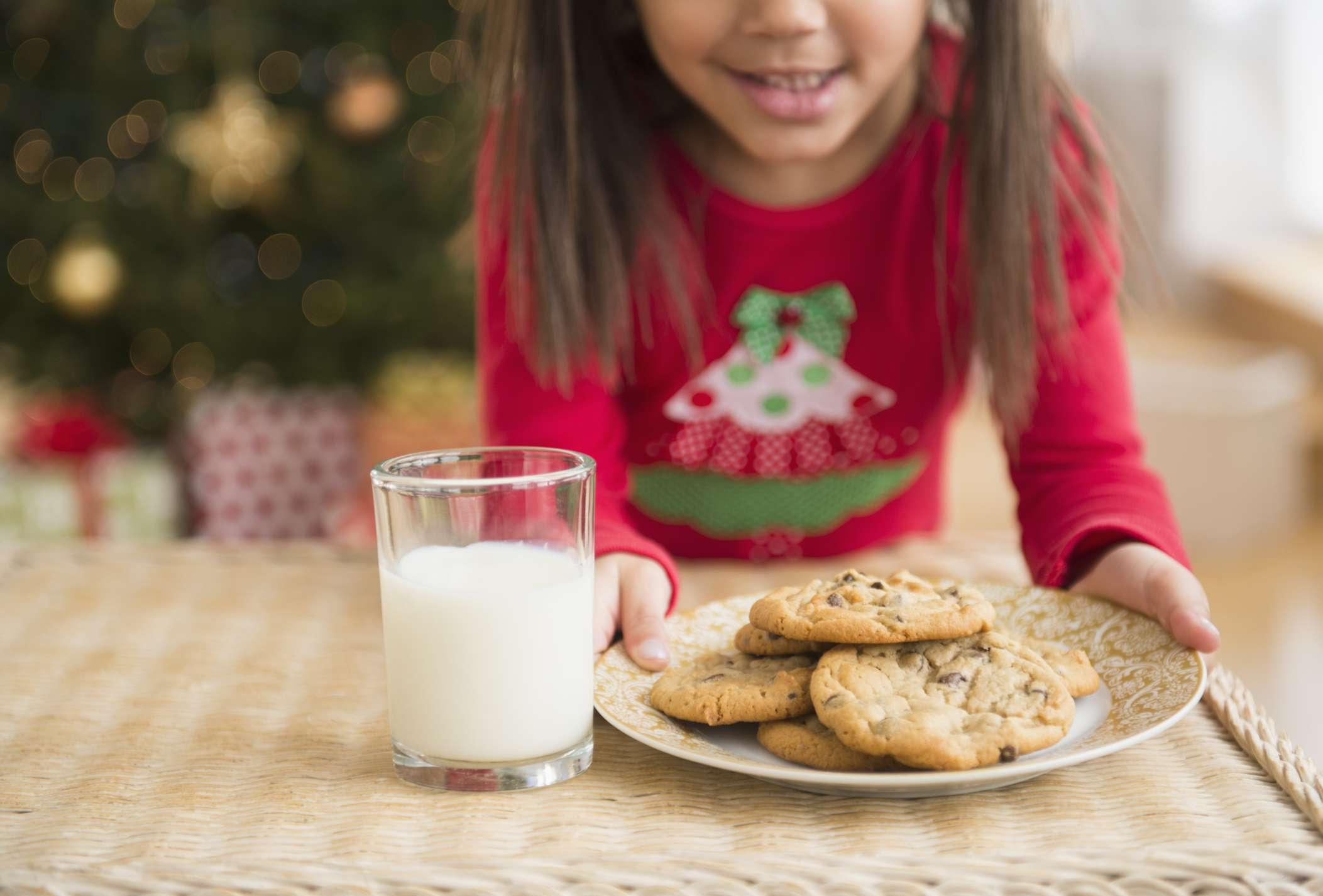Dejar leche y galletas para santa